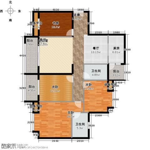 富盈东方华府三期紫峰4室0厅2卫1厨174.00㎡户型图