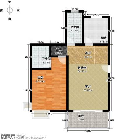 康悦亚洲花园1室0厅2卫1厨80.00㎡户型图