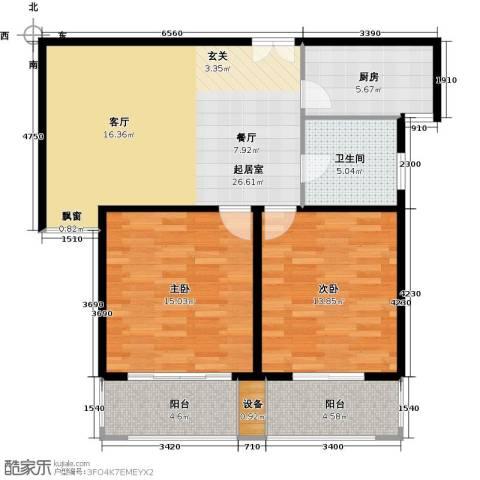 盛世御珑湾2室0厅1卫1厨105.00㎡户型图