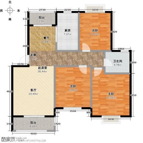 尚成府邸3室0厅1卫1厨106.00㎡户型图