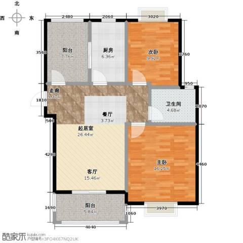 尚成府邸2室0厅1卫1厨86.00㎡户型图