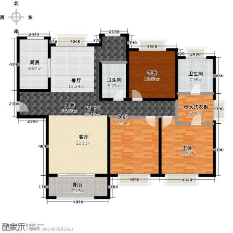 绿洲雅宾利花园三期3室0厅2卫1厨165.00㎡户型图