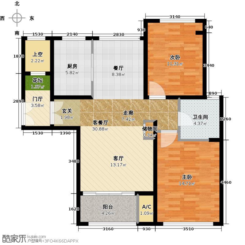 白银时代D户型2室1厅1卫1厨