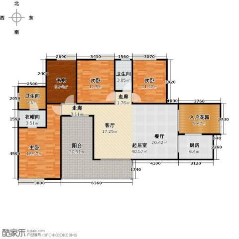 骏逸第一江岸孔雀湾二期4室0厅2卫1厨190.00㎡户型图