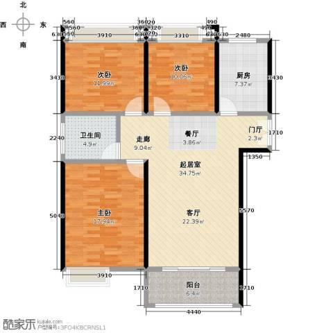 富友名族大厦3室0厅1卫1厨130.00㎡户型图