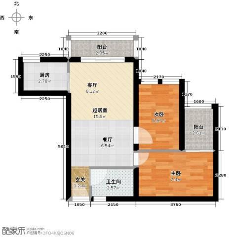 万富汇2室0厅1卫1厨47.00㎡户型图