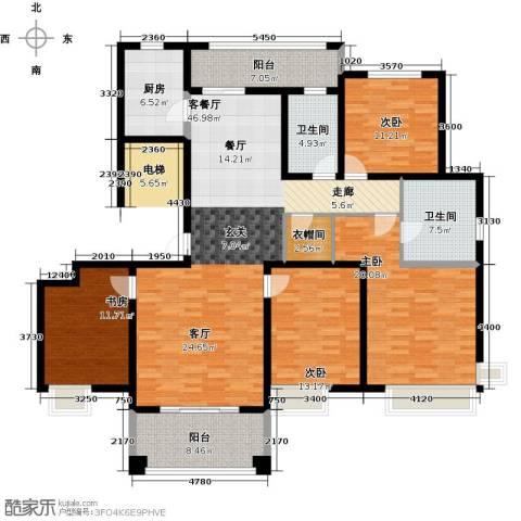 铭邦华府4室1厅2卫1厨160.00㎡户型图