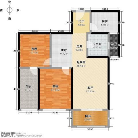 富友名族大厦2室0厅1卫1厨124.00㎡户型图