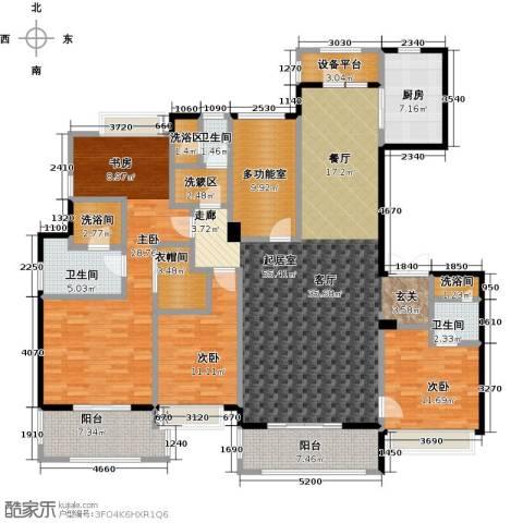 绿地百年宅3室0厅3卫1厨190.00㎡户型图
