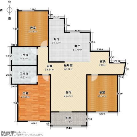 古北新城酩悦1661室0厅2卫0厨146.00㎡户型图