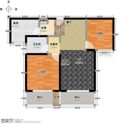 绿地百年宅2室0厅1卫1厨88.00㎡户型图