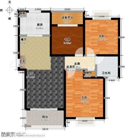 绿地百年宅3室0厅1卫1厨100.00㎡户型图
