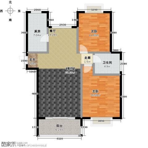 绿地百年宅2室0厅1卫1厨96.00㎡户型图