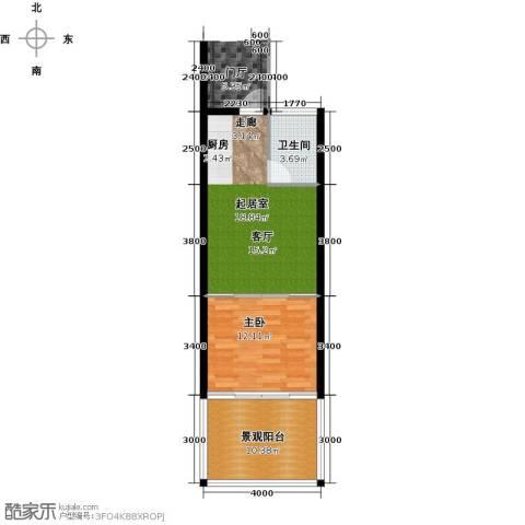 中和龙沐湾・海润源1室0厅1卫0厨55.00㎡户型图