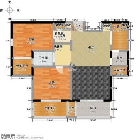 绿地百年宅2室0厅1卫0厨90.00㎡户型图