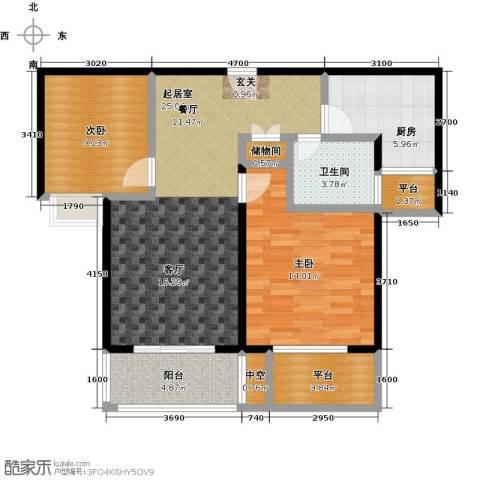 绿地百年宅2室0厅1卫1厨85.00㎡户型图