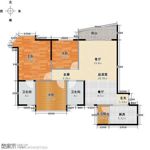碧桂园・天玺湾3室0厅2卫1厨102.00㎡户型图