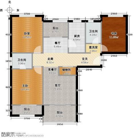 天居玲珑湾2室1厅2卫1厨117.00㎡户型图