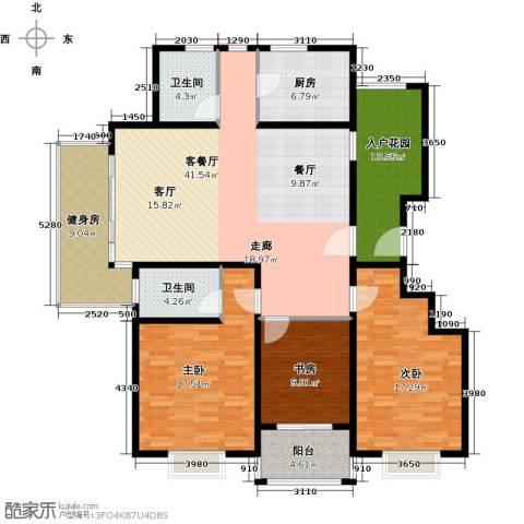 晟地润园3室1厅2卫1厨140.00㎡户型图