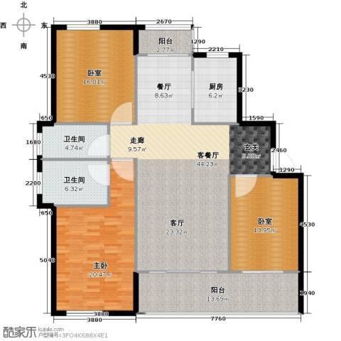 嘉宝梦之湾1室1厅2卫1厨140.00㎡户型图