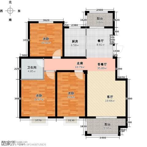 晟地润园3室1厅1卫1厨109.00㎡户型图