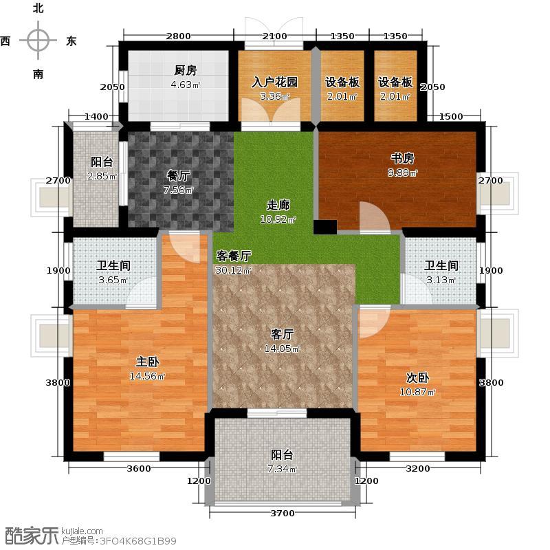 国际名都C双阳台户型3室1厅2卫1厨