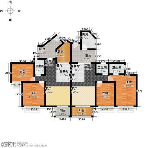 天御4室2厅3卫2厨198.00㎡户型图