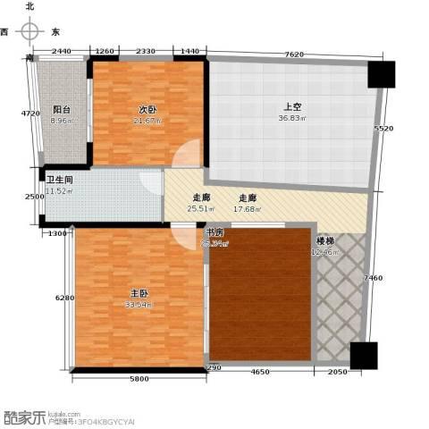 钱隆樽品三期波士堂3室0厅1卫0厨163.13㎡户型图