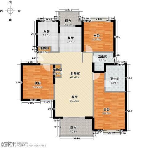 虹桥晶典苑3室0厅2卫1厨137.00㎡户型图