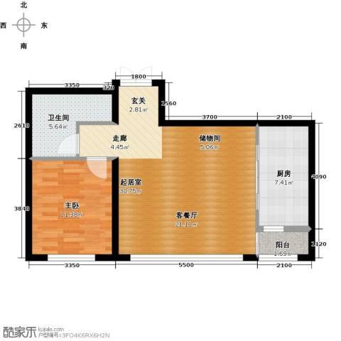 汉斯公园大道1室0厅1卫1厨78.00㎡户型图