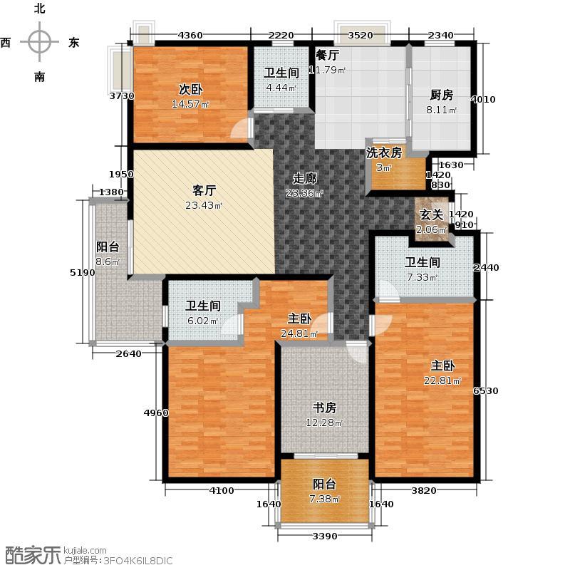马陆清水湾三期-5号楼户型4室3卫1厨