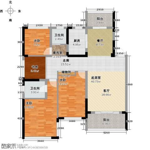 卓锦兰香4室0厅2卫1厨126.00㎡户型图