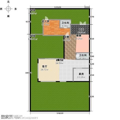 万科第五园1室0厅2卫1厨355.00㎡户型图