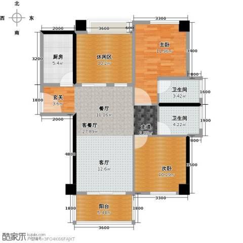 黄旗印象2室0厅2卫1厨111.00㎡户型图