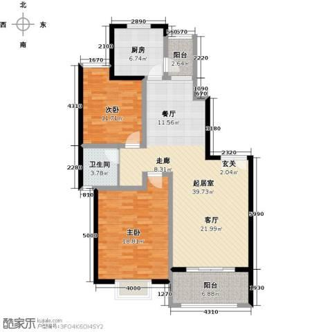 上海一家人楼盘2室0厅1卫1厨103.00㎡户型图