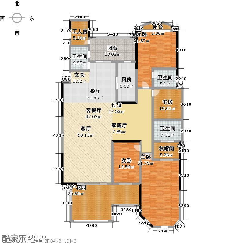 天湖郦都户型4室1厅3卫1厨