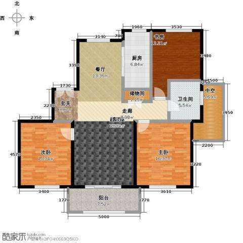 宝华海尚郡领3室0厅1卫1厨125.00㎡户型图