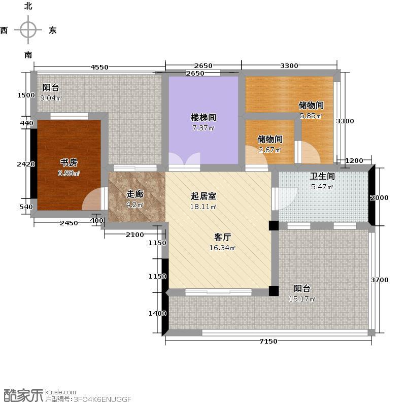 蓝堡公馆B户型1室1卫