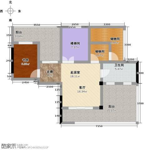 蓝堡公馆1室0厅1卫0厨170.00㎡户型图