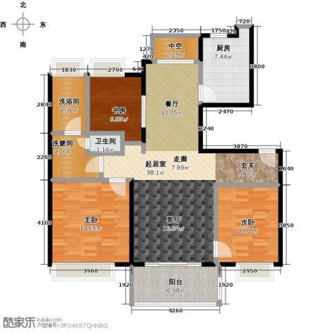 万科金色华亭3室0厅1卫1厨116.00㎡户型图