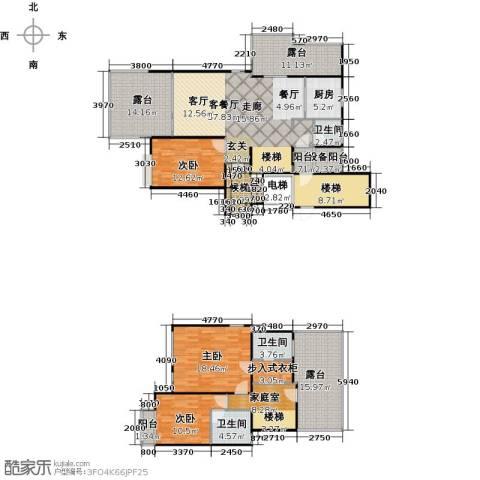 上海三湘海尚3室1厅3卫1厨181.00㎡户型图
