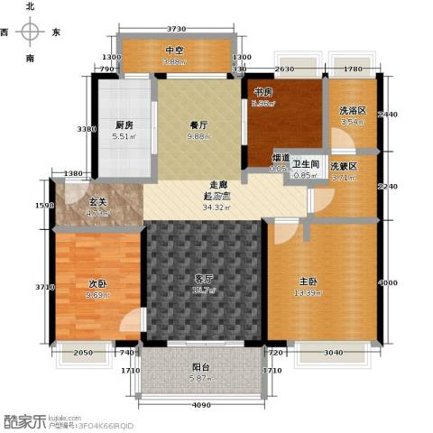 万科金色华亭3室0厅1卫1厨112.00㎡户型图