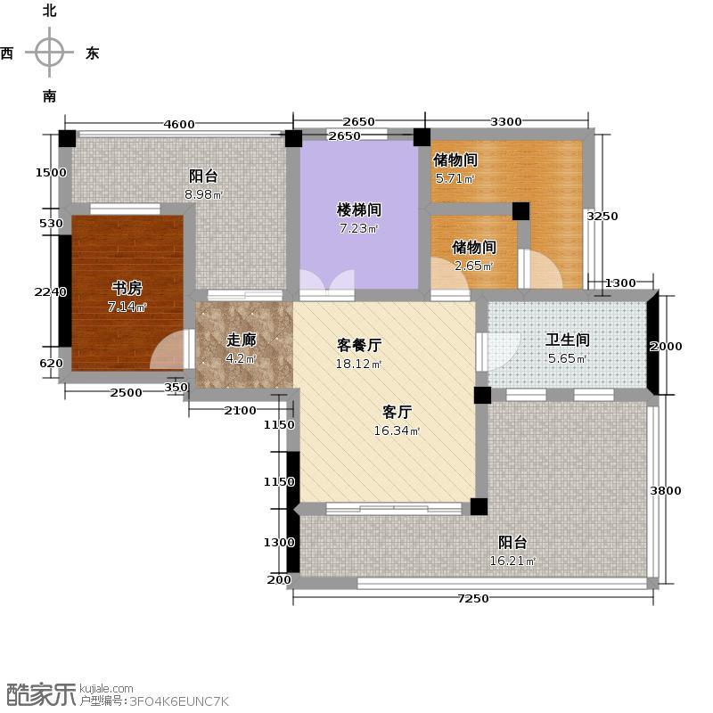 蓝堡公馆B方案户型1室1厅1卫