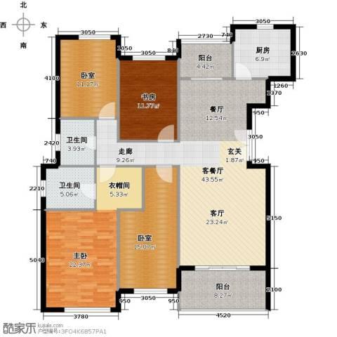天居玲珑湾2室1厅2卫1厨146.00㎡户型图