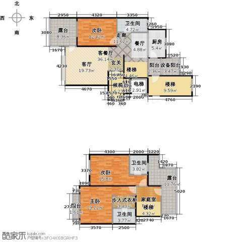 上海三湘海尚3室1厅3卫1厨171.00㎡户型图