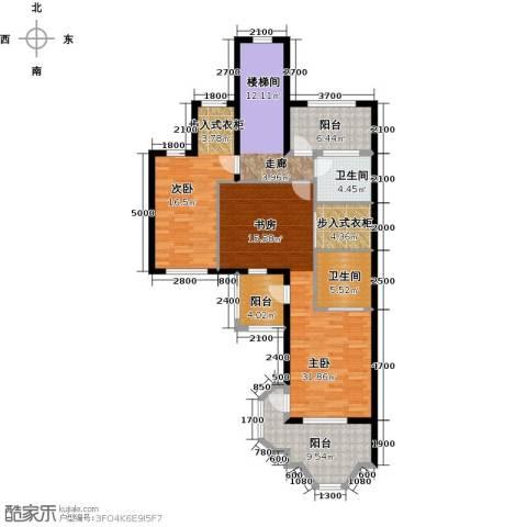 宝华铂翠豪庭2室0厅2卫0厨110.00㎡户型图