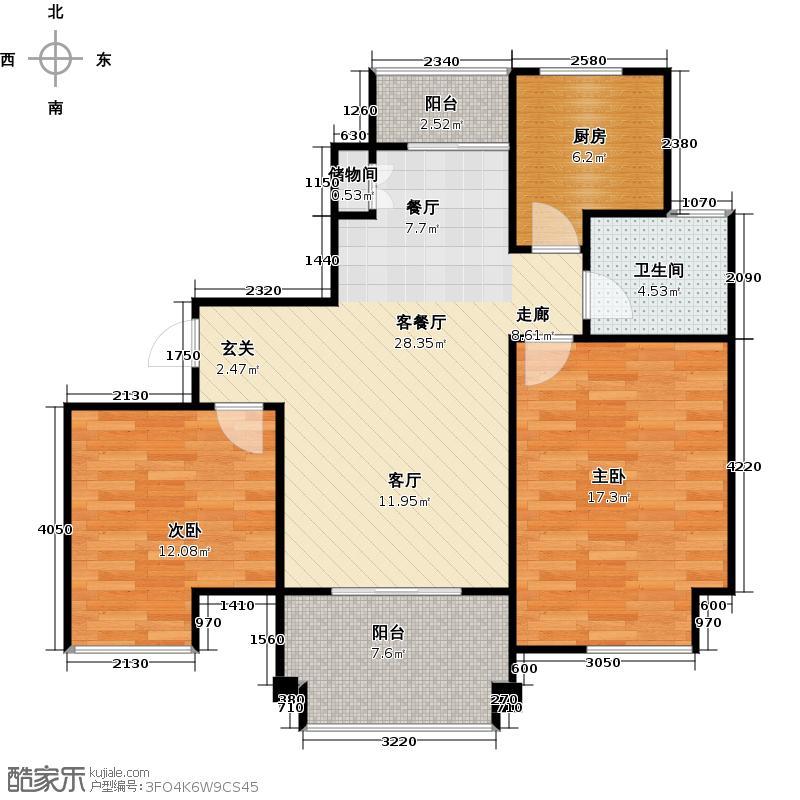 象屿名城C2-户型2室1厅1卫1厨