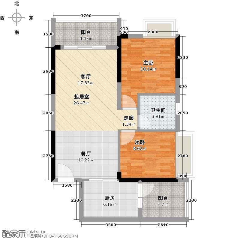 锦绣天伦花园13座3梯05户型2室1卫1厨