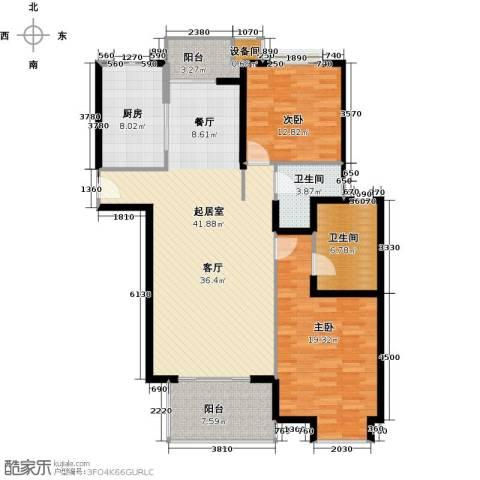 虹桥晶典苑2室0厅2卫1厨120.00㎡户型图