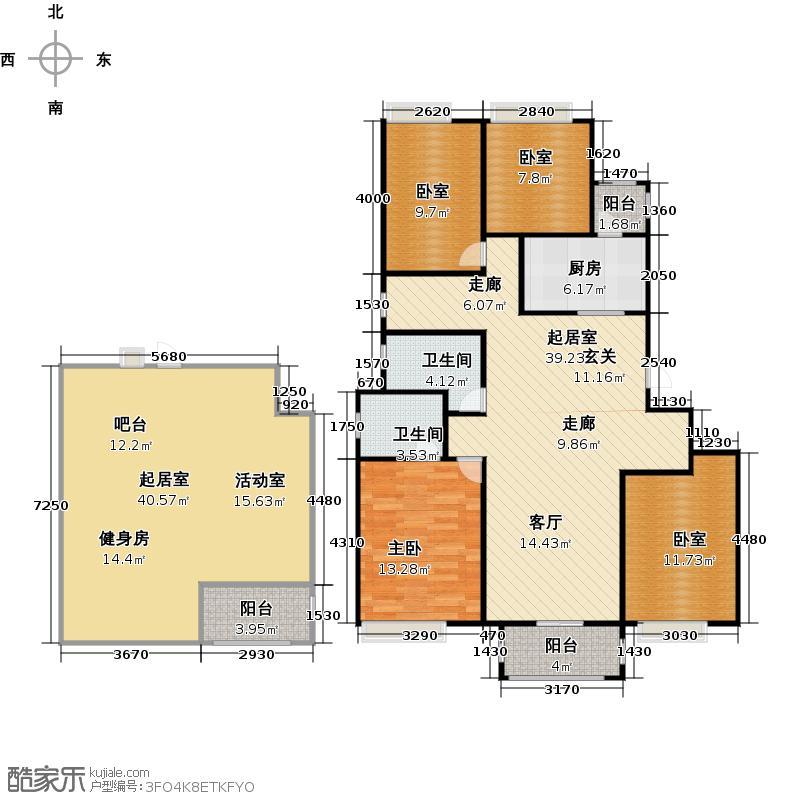 中铁逸都一层和地下室平面图户型1室2卫1厨